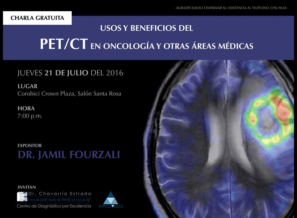 charla del Dr. Jamil Fourzali, especialista en PET/CT.